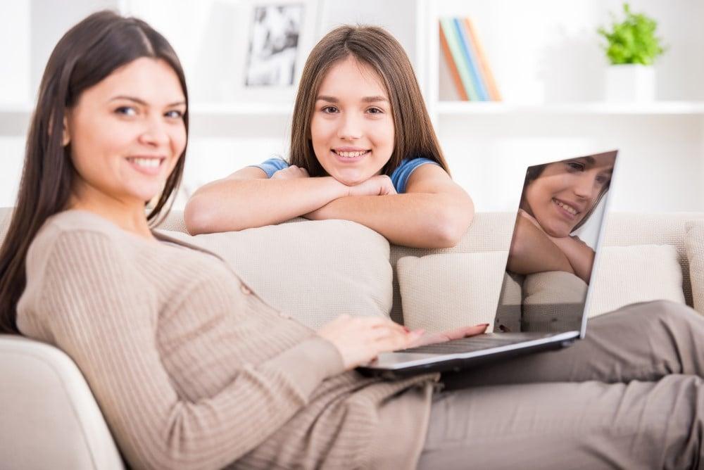 Mor med computer