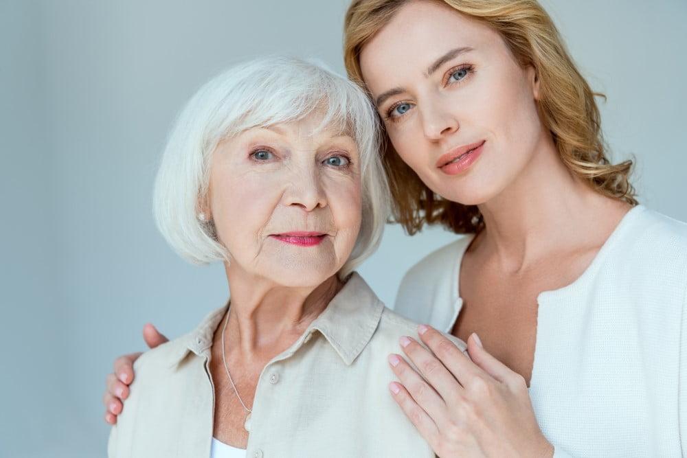 Senior mor og hendes datter